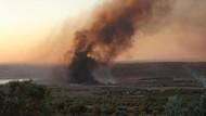 Fırat Kalkanı'nda görevli askerler yangında ölümden döndü