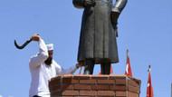 Siverek'te Atatürk büstüne çirkin saldırı
