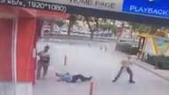 Gemlik Adliyesi'nde polisin şehit edildiği an kamerada