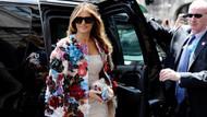 Melania Trump gösteriler nedeniyle otelinde mahsur kaldı