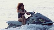 Rihanna'nın jet-ski'ye binme anları olay oldu!