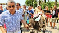 Aydın Aydın'ın eşekli tanıtıma hayvansever tepkisi