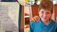Çocuk polisin masasına bir not bıraktı, polis okuyunca çok duygulandı
