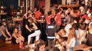 Marmaris'te barlar sokağına bir anda polisler girince..