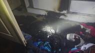 Üst katındaki tadilat sesine kızdı, benzin döküp oturduğu evi yaktı