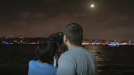Parçalı ay tutulmasından ilginç görüntüler