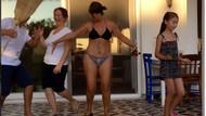 Hülya Avşar'dan yeni bikinili, olay dans