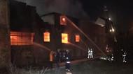 Arnavutköy'deki fabrikada yangın