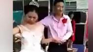 Öpmek isteyen kocasından kaçan kadın sosyal medyayı salladı
