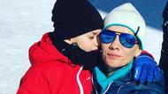 Esra Erol Kartalkaya'da kayak tatili yaptı