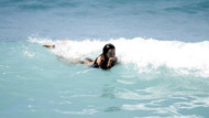 Alanya'da denize giren turistler görenleri şaşırttı