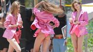 Gigi Hadid'ten pembe bikini şov