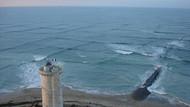 Denizde böyle kare dalgalar görürseniz hemen oradan uzaklaşın