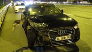 TEM'de 3 araçlı kaza: 5 yaralı
