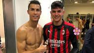 Cristiano Ronaldo ile anı olsun istedi ama Chiellini'yi çıplak paylaştı