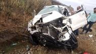 Televizyon ekibi kaza yaptı: 3 yaralı