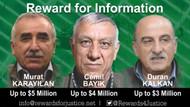 ABD'nin 12 milyon dolar ödül koyduğu PKK'lılar kimdir?