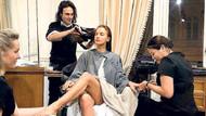 Ünlü model Irina Shayk bakımda