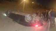 TEM korkunç kaza! Arkadan çarptığı araç takla attı