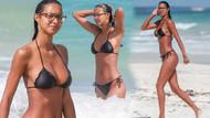 Ünlü Model Lais Ribeiro minik bikinisiyle plajı salladı