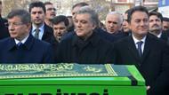 Ahmet Davutoğlu Abdullah Gül ve Ali Babacan cenazede bir araya geldi
