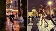 Ayasofya'da soyunan mankenin yeni durağı Vatikan