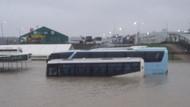 İstanbul Havalimanı şantiye alanı sular altında kaldı