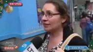 Canlı yayında muhabirin cep telefonu çalındı!