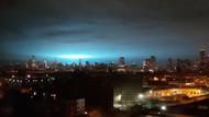 New York'ta gizemli mavi ışık sosyal medyanın gündeminde