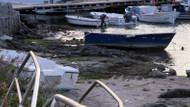 Bodrum'da panik yaratan görüntü! Deniz 10 metre çekilince deprem açıklaması
