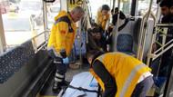 Kadıköy'de halk otobüsü ve taksi çarpıştı