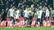 Maçta olay.. Beşiktaş ve Fenerbahçeli futbolcuların gergin dakikaları