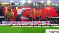 Başakşehir stadında Çanakkale Zaferi koreografisi