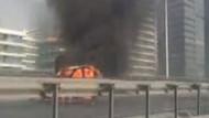 TEM'de araç yangını: İki şerit trafiğe kapatıldı