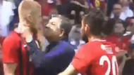 Yılmaz Vural Eskişehirsporlu futbolcunun boğazına yapıştı!