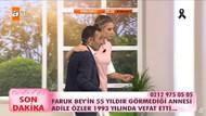Esra Erol'da annesini arayan Faruk Bey, Türkiye'yi gözyaşlarına boğdu