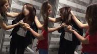 Arkadaşlarının ofisini basan kızlar terör estirdi