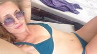 Yasemin Kay Allen'in bikinisi olay oldu