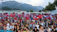 Kemer'de Rusların Zafer Bayramı coşkusu