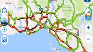 İstanbul trafiğinde bayram yoğunluğu: Yollar kıpkırmızı