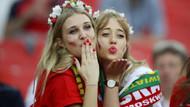Polonya tribünleri yine çok renkliydi