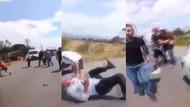 Ortalık savaş alanına döndü! Kaza sonrası darp ve bıçaklama