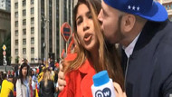 Kolombiyalı muhabir Julieth Theran'a canlı yayında şok!