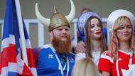 Nijerya - İzlanda tribünlerinden renkli görüntüler