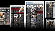 Hürriyet Erdoğan Demirören'in vefatına siyah yas logosuyla 5 sayfa ayırdı