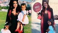 Volkan Demirel'in eşi Zeynep Demirel mezun oldu