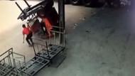Ölüm böyle teğet geçti! Forklift operatörü ölümden döndü