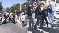 Kahramanmaraş'ta kadınlar birbirine girdi, erkekler ayırdı