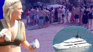 Lüks yatıyla geldi halk plajında lahmacun ve ayran dağıtıp gitti