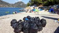 Marmaris'te çadır kuran tatilcilerin çevreye bıraktığı çöpler tepki çekti
